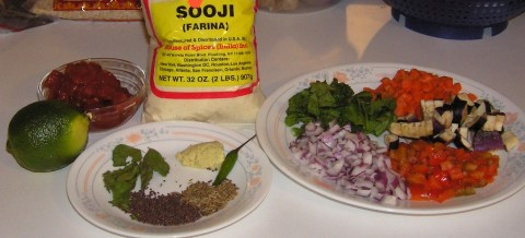 ingredients for upma