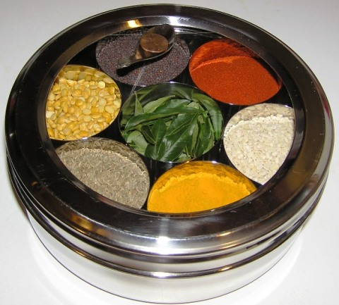 covered spice box