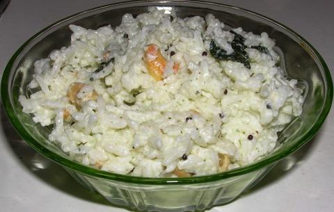 vineela's dadhojanam (curd rice)