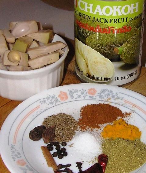 ingredients for jackfruit curry