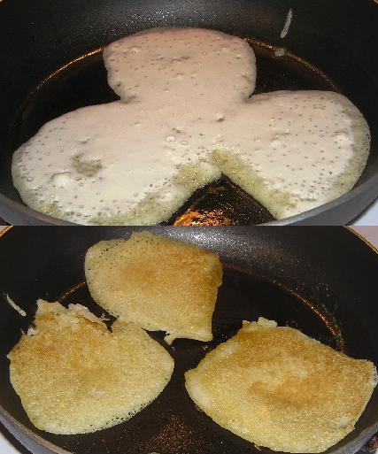 sourdough hotcakes cooking