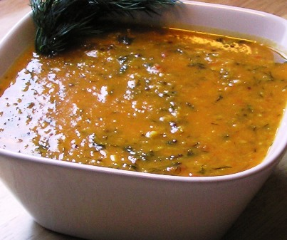 dilip's moong dal with dill