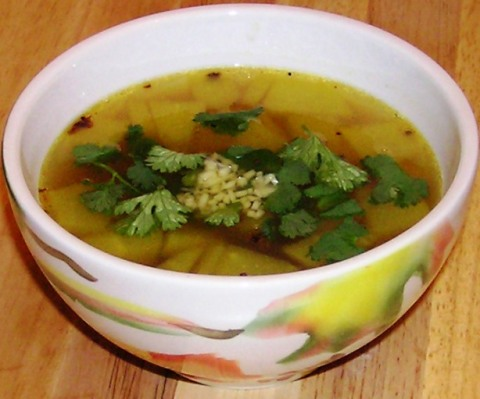 ginger rasam with dosakai