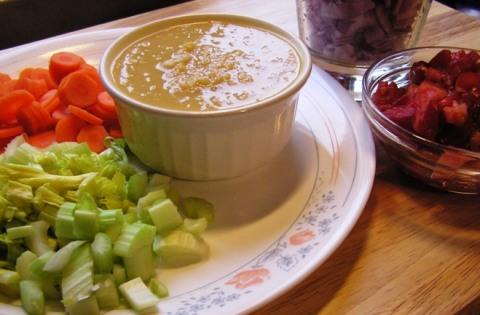 ingredients for carrot-celerysambhar