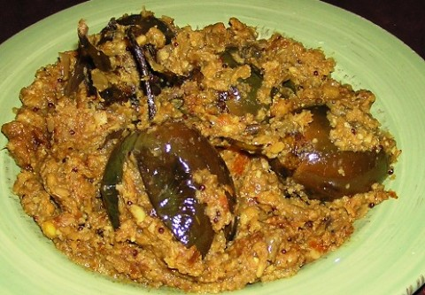 eggplant with jackfruit seed gravy