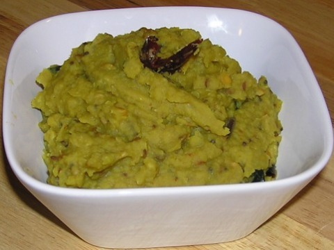 green mango (in brine) dal