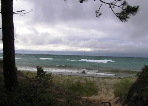 stormy lake superior