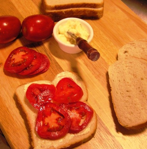 tomato sandwichfixins