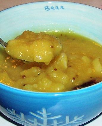 potato sambhar with notalotta toordal