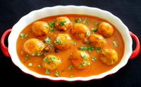 Asha's Dal and Dill Dumplings in Tomato Gravy