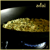 Bee and Jai's Toor Dal Adai with Amaranth