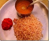 Bindiya's Rosematta Rice with LemonSambhar