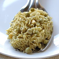 Indira's Fragrant Basmati Pilaf with Fresh Tuvar