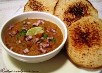 Madhu's Bread and Bhaji with Toor Dal