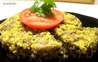 Red Chillies' Steamed Toor Daal Dill Cake