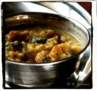 Sivani's Spinach and Tomato KandiPappu