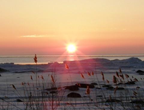 sunrise over sturgeonpoint