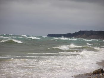 stormy lake superior
