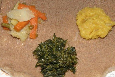 mini feast on injera