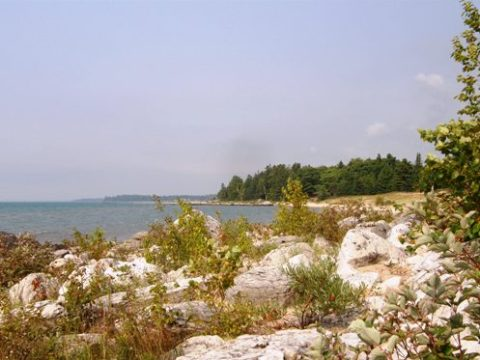 northern lake huron landscape
