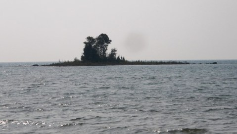 a small island in northern lake huron