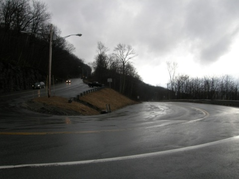 hairpin turn at north adams ~ rainy day