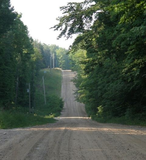 country road in northern michigan