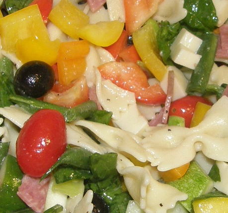 pasta salad ~ lightened up