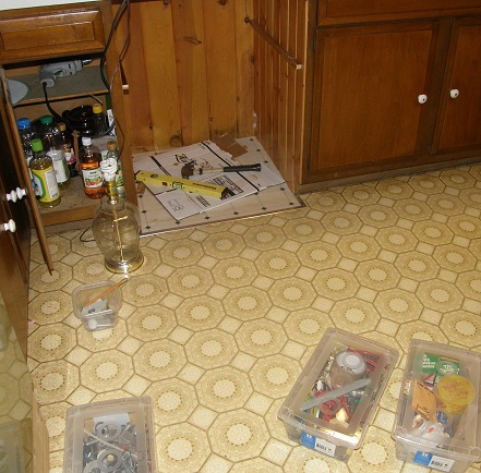 building the new open storage cabinet