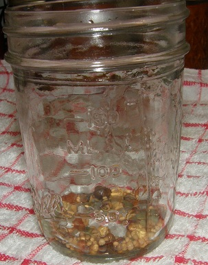 canning jar with picking spice