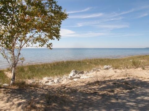 lake michigan ~ view from US2