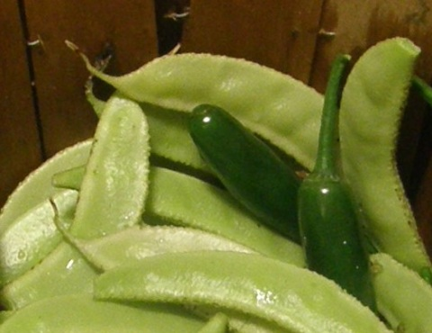 beans and green chiles