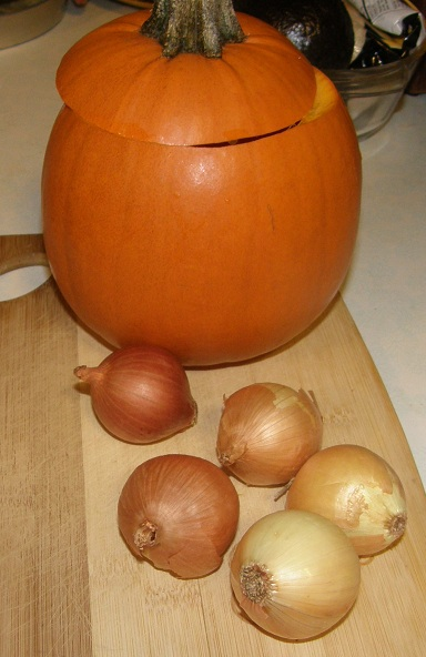 pumpkin and onions