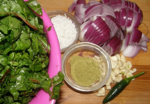 ingredients for tamba di bhaji